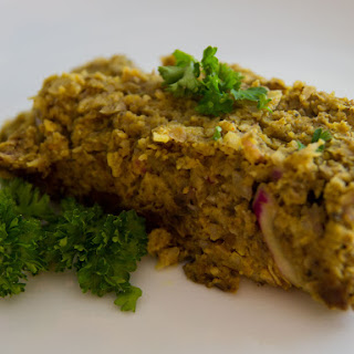 "Chickpea and Portobello ""Meat""loaf"