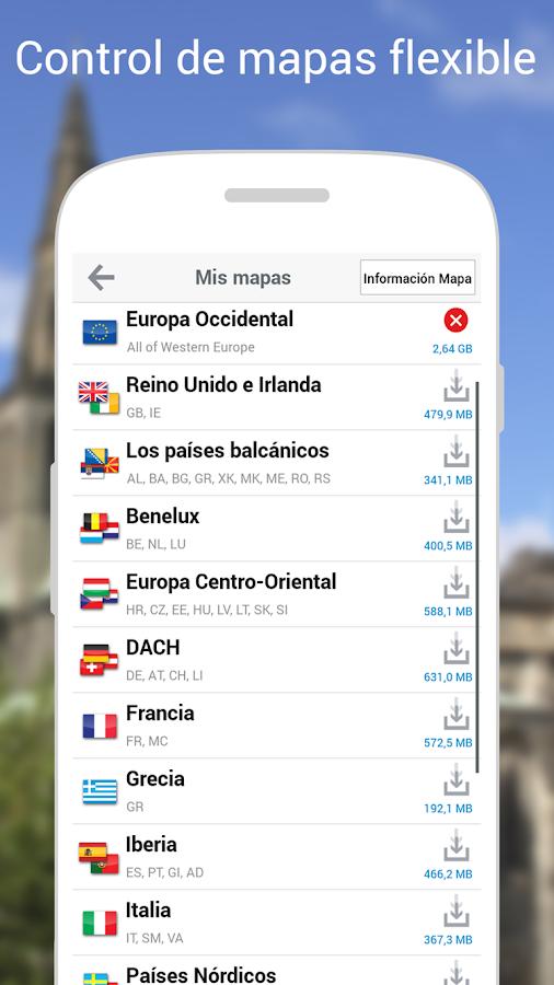 CoPilot Premium Iberia GPS App: captura de pantalla