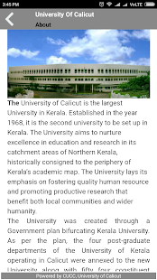 University of Calicut- screenshot thumbnail
