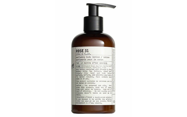 Le Labo Rose 31 Hand and Body Lotion.