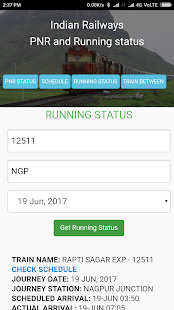 Rail running status and train time table, PNR APP- screenshot thumbnail