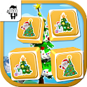Match Xmas Tree Card Kids Game icon