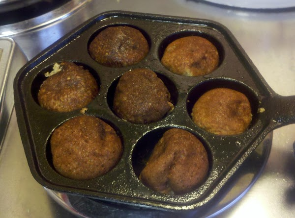 Aebelskivers - baked in a cast iron aebelskiver pan.