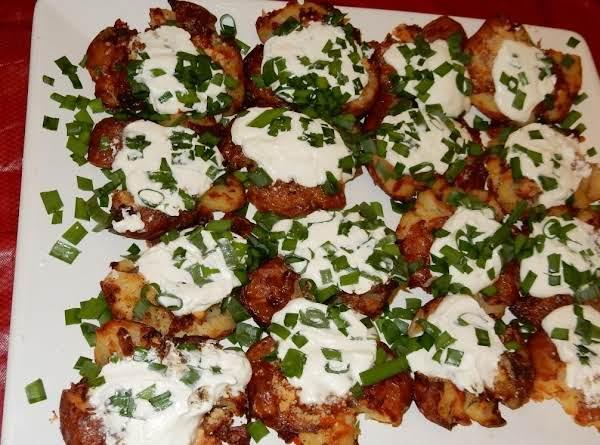 Roasted Smashed And Loaded Potatoes Recipe