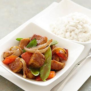 Thai Chicken Stir-Fry with Coconut Rice.