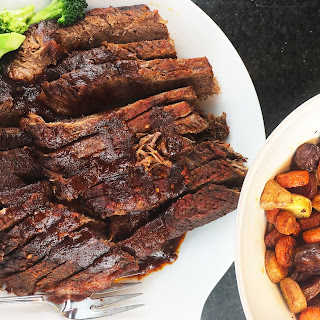 Sweet and Sour Brisket with Roasted Carrots and Fingerling Potatoes Recipe