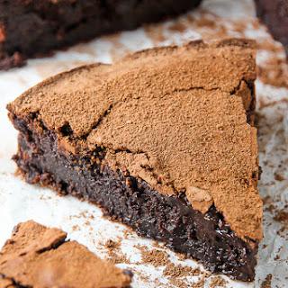 Flourless Chocolate Fudge Cake.