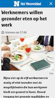 Screenshot of Nieuwsblad.be mobile