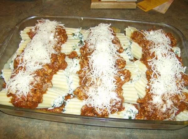 Spinach Stuffed Manicotti Shells By Rose