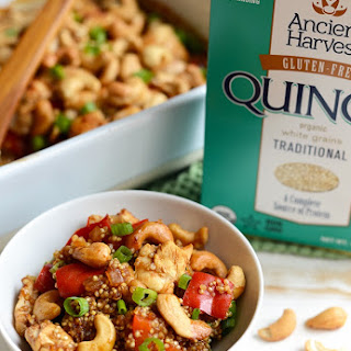 Cashew Chicken Quinoa Bake.