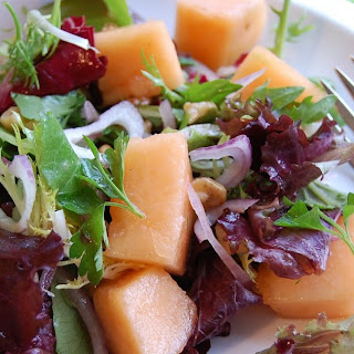 Cantaloupe, Red Onion and Walnut Salad