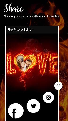 Fire Text Photo Frame  screenshots 8
