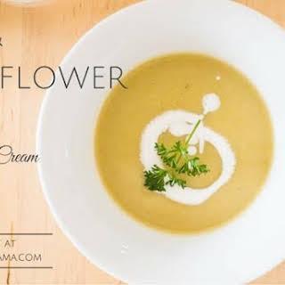 Leek and Cauliflower Soup with Coconut Cream [Paleo, AIP].