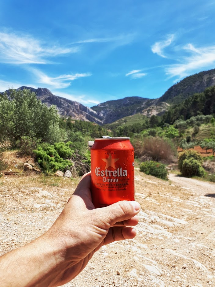 Cheers to Catalonia with estrella damm from Horta de sant joan