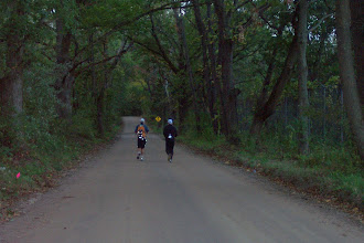 Photo: Leaving aid station at mile 70.