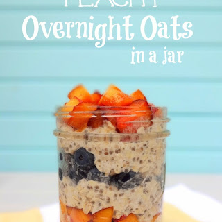 Berry Peachy Overnight Oats