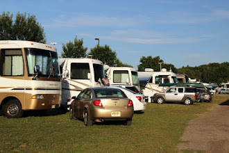 Photo: RVs parked at the FMCA NE Area rally in Essex Junction, Vermont