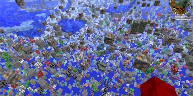 XRAY Mod For Minecraft PE - náhled