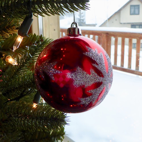 Christmas is here by Kerry Demandante - Public Holidays Christmas ( red, snowflake, twinkle, ornament, holidays, snow, winter, december, season, christmas, bauble, lights,  )