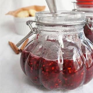 Raspberry, Ginger and Cinnamon Jam.