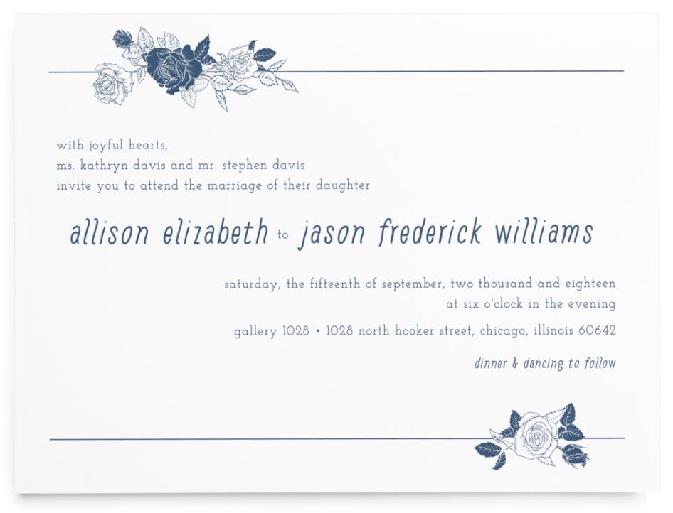 linear modern wedding invitation