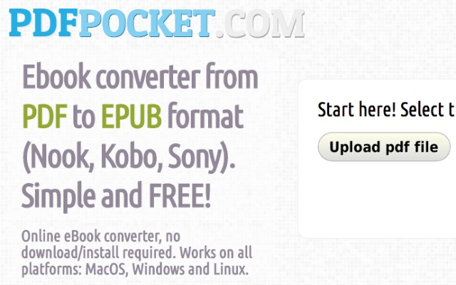 Pdfpocket pdf to epub chrome web store convert pdf ebooks to epub format simple and free fandeluxe Images