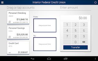 Screenshot of IFCU Mobile