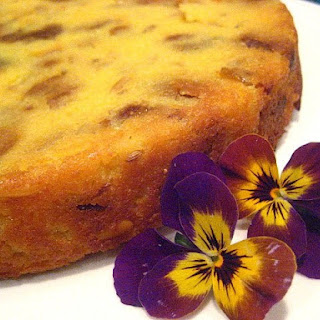 Polenta & Fig Cake w/ Fennel & Pignoli Nuts (adapted from Bon Appetit)