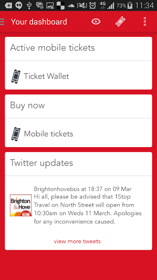 Brighton & Hove M-Tickets- screenshot