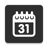 Simple Calendar Widget Black
