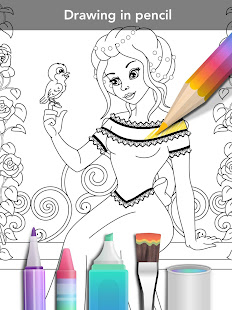 Princess coloring book 11