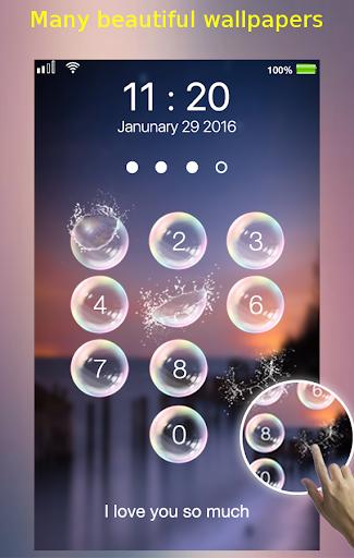 lock screen - bubble