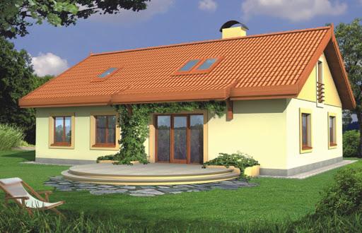 projekt Sielanka 30 st. wersja A dach 2-spad. bez gar. piwnica