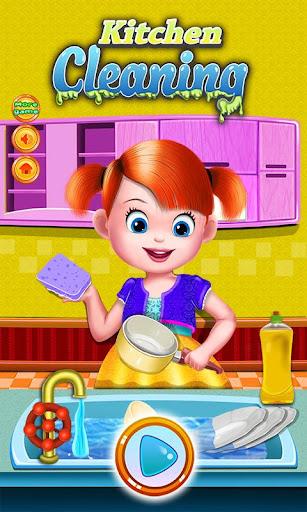 房子廚房清潔遊戲