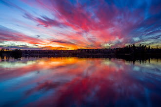 Photo: This has been a terrific week from a photography point of view. Lots of opportunities to get great autumn and sunset (you know of love those!) photos. Tuesday evening gave this spectacular sunset reflected in the lake. Rather different from thishttps://plus.google.com/117459925640711320774/posts/AF5xB4T5g8h which is from the same place but the evening before.  Either one of them would have been a perfect fit for week 44 of project 52 which has the theme Reflections, but I chose the colorful one!  For #2012project52 by +Gretchen Chappelle, +Shelly Gunderson, +Gary Munroe, +Greg Berdan, +Sue Butler, +LaDonna Prideand +Kate Church and #mirrormonday by +Elizabeth Edwardsand +Gemma Costa(+Mirror Monday) and #landscapephotography by +Margaret Tompkins, +Carra Riley, +paul t beard, +Ke Zengand +David Heath Williams and #nordicfeelingby +Charlotte Therese Björnströmand +Peter From and #nordiclandscape by +Juha Kal and #EuropeanPhotography by +European Photo +Janusz Brakoniecki +Jean-Louis LAURENCE +Manuella Betaille +Michael Muraz +Susanne Ramharter.