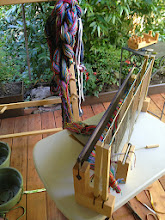 Photo: and thread the heddles