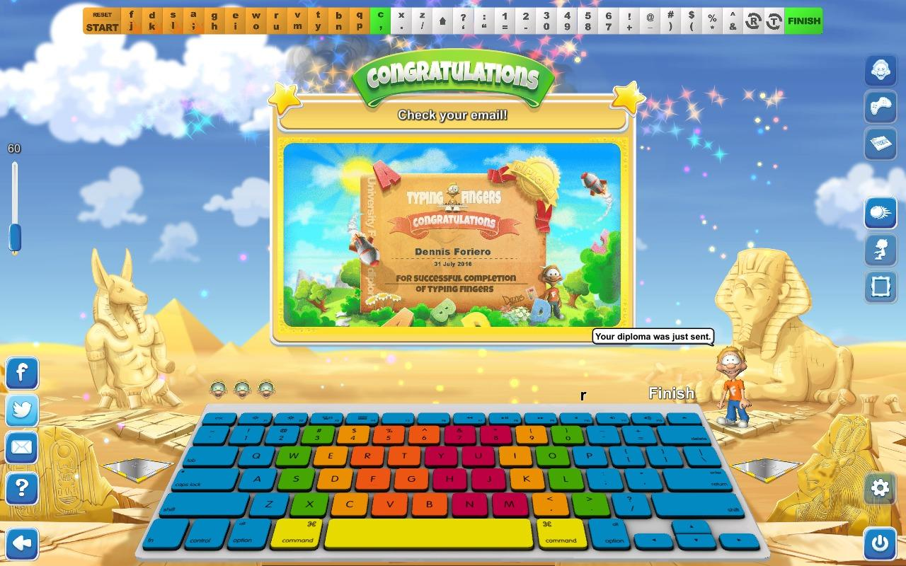 Typing Fingers- screenshot
