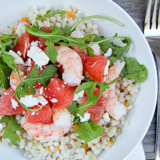 Grapefruit, Shrimp and Couscous Salad
