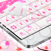 Pink Flowers GO Keyboard