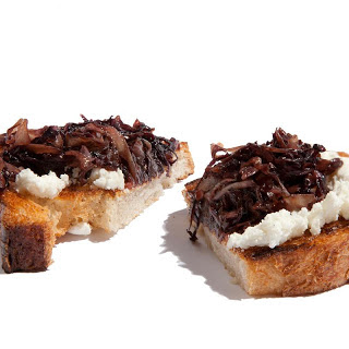 Sautéed Radicchio and Goat Cheese Bruschetta