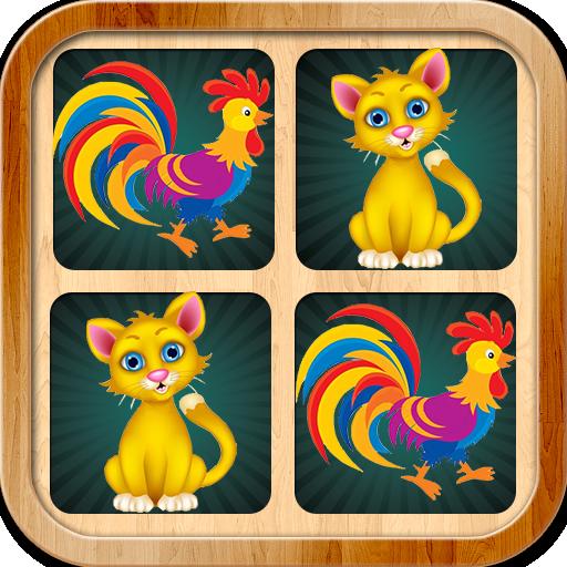 记忆力游戏 - 搞笑可爱小动物 真正 卡通图片 - 动物叫声 教育 App LOGO-硬是要APP