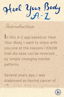 Heal Your Body A-Z -Louise Hay- screenshot thumbnail