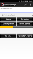 Screenshot of Voice Message