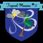 Button Tropical Monsoon #3