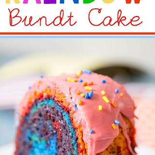 Rainbow Bundt Cake