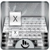 Galaxy Silver Keyboard Theme
