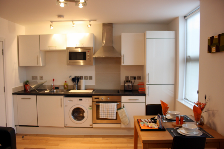 Fully equipped kitchen at Westciti East Croydon Apartments