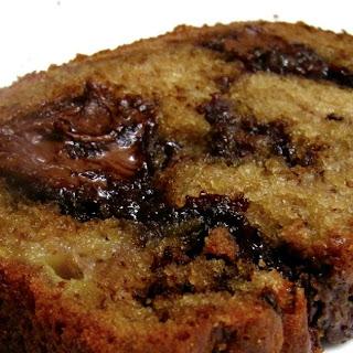 Nutella Marbled Banana Bread Recipe
