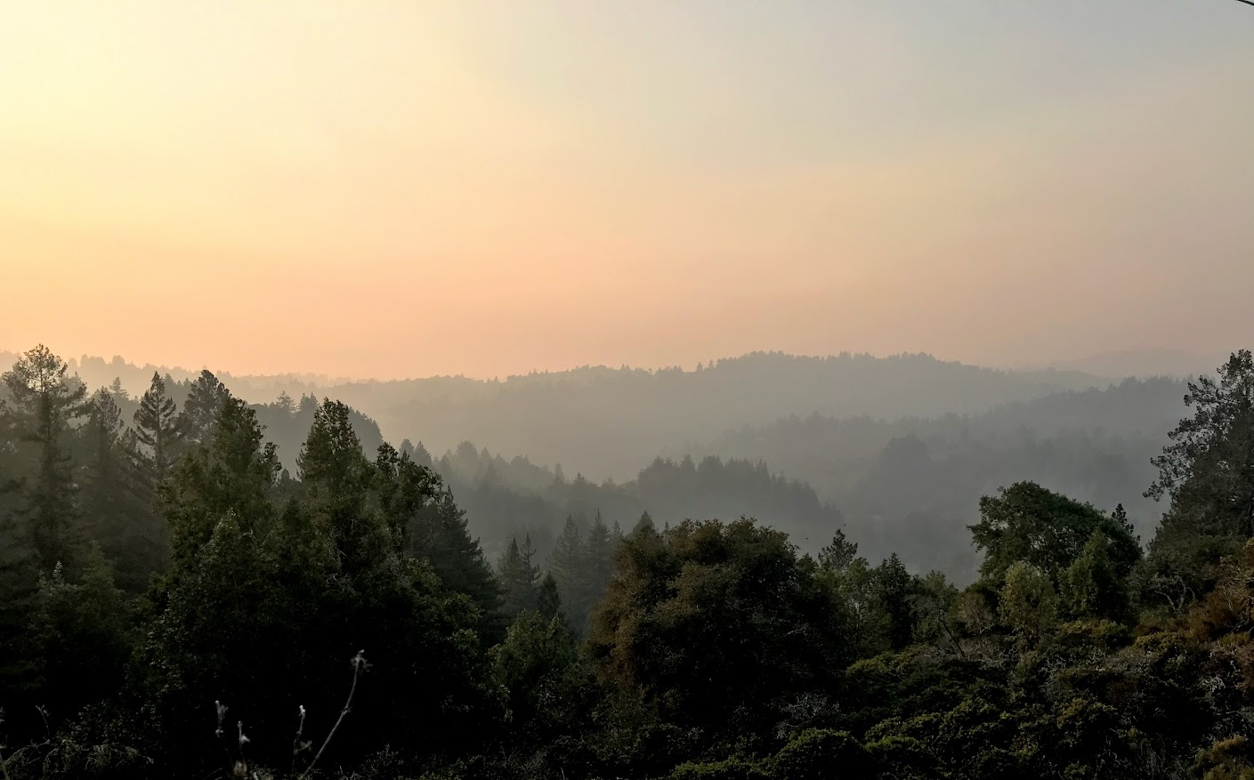 Nor Cal smoke in the Santa Cruz mountains
