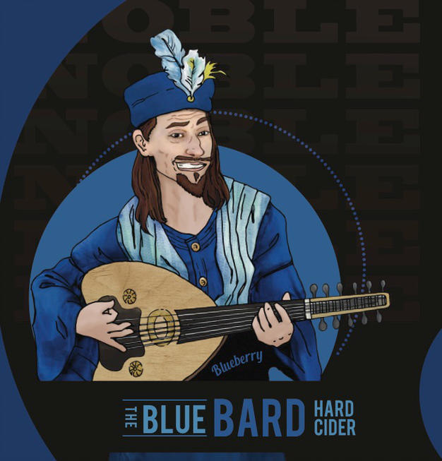 Logo of Noble Cider The Blue Bard